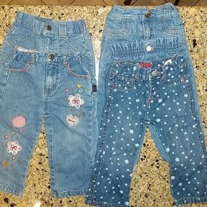 Other - BUNDLED baby girl jeans. Size 18 months